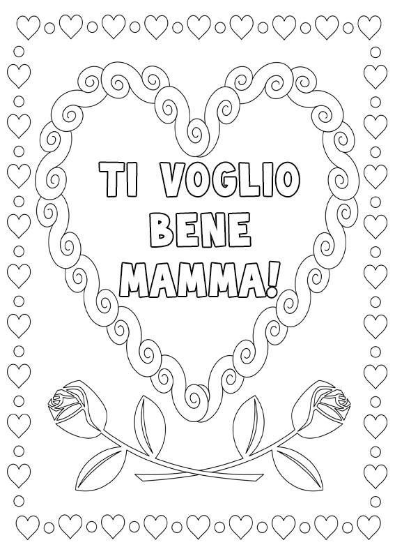Illustrazione Festa della Mamma da colorare 25