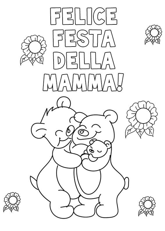 Illustrazione Festa della Mamma da colorare 26