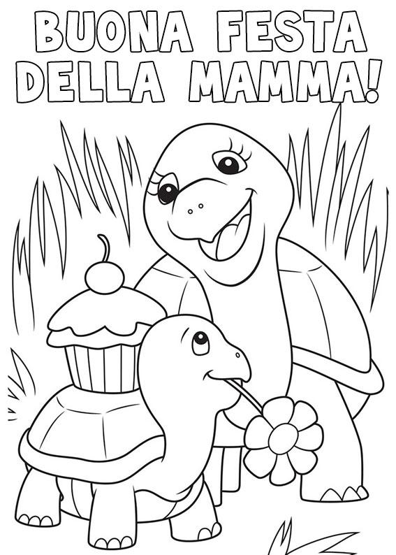 Illustrazione Festa della Mamma da colorare 27
