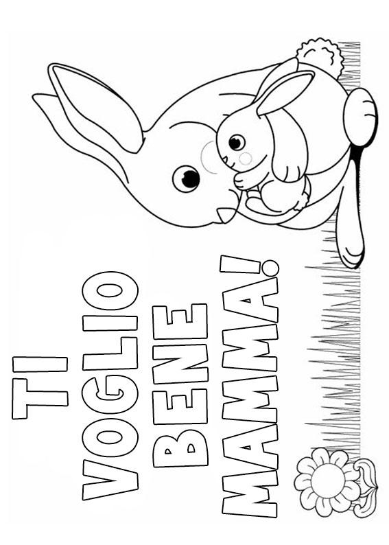 Illustrazione Festa della Mamma da colorare 28