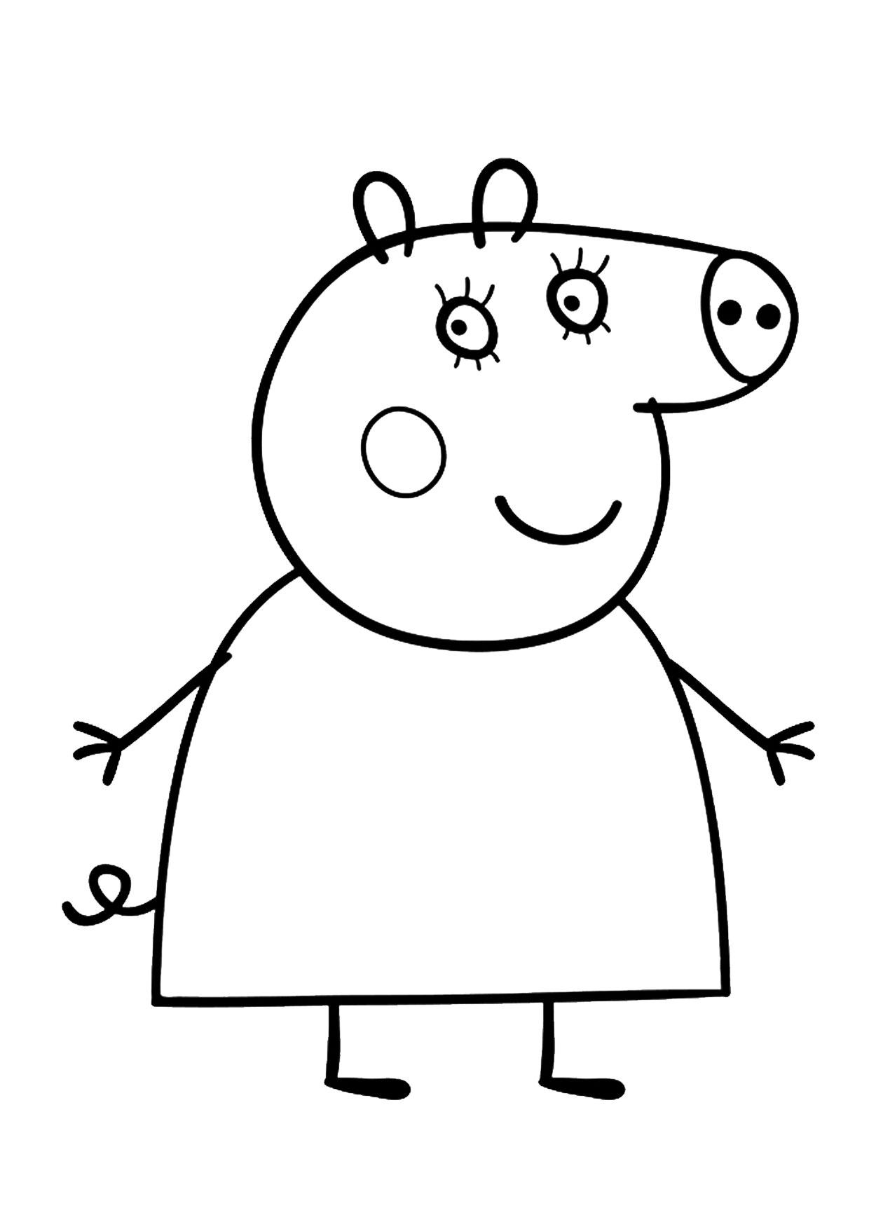 Disegno Peppa Pig da colorare 02