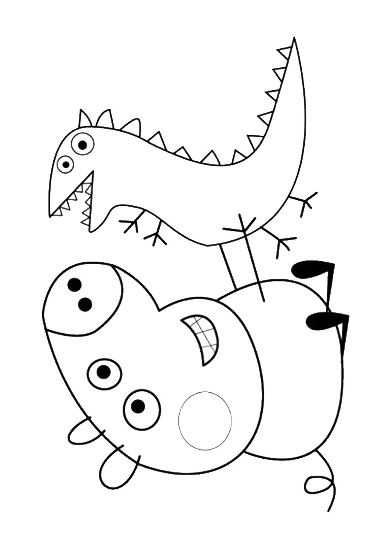 Disegno Peppa Pig da colorare 04