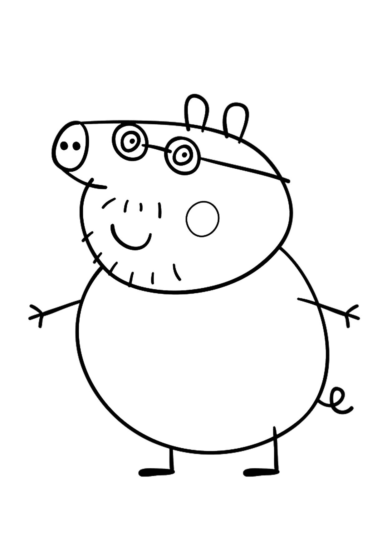 Disegno Peppa Pig da colorare 05