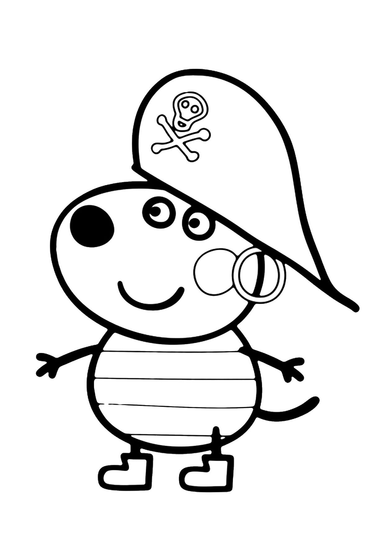 Disegno Peppa Pig da colorare 06