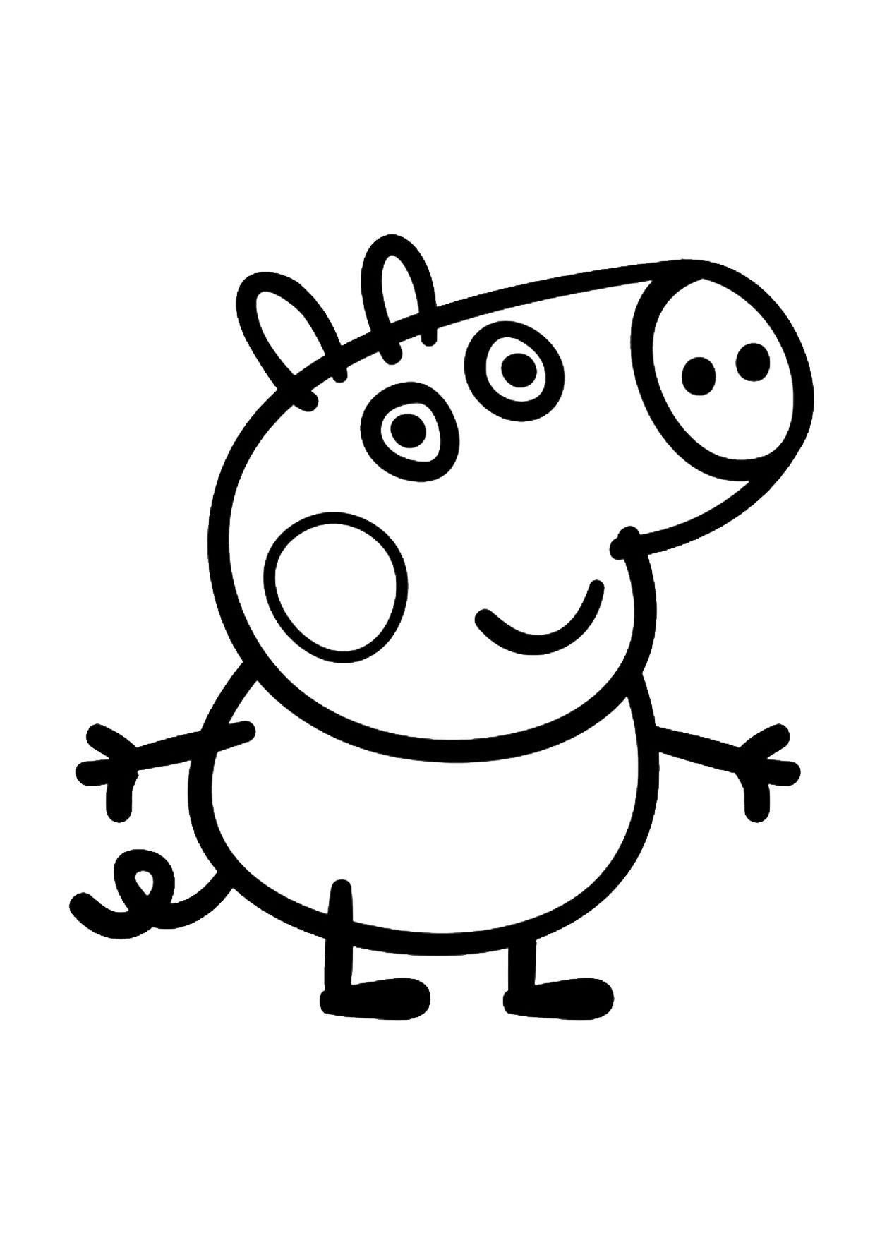 Disegno Peppa Pig da colorare 07