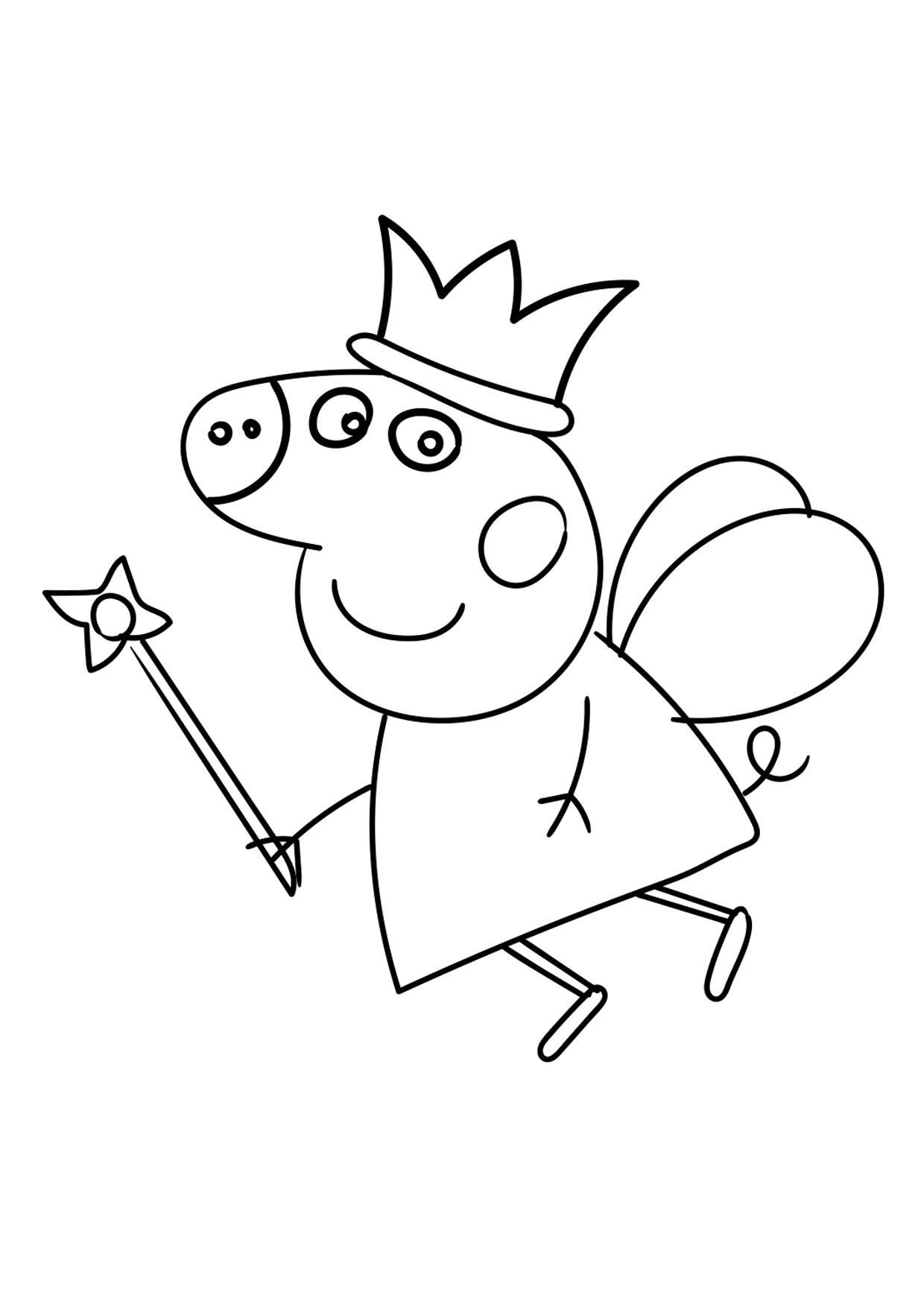 Disegno Peppa Pig da colorare 09