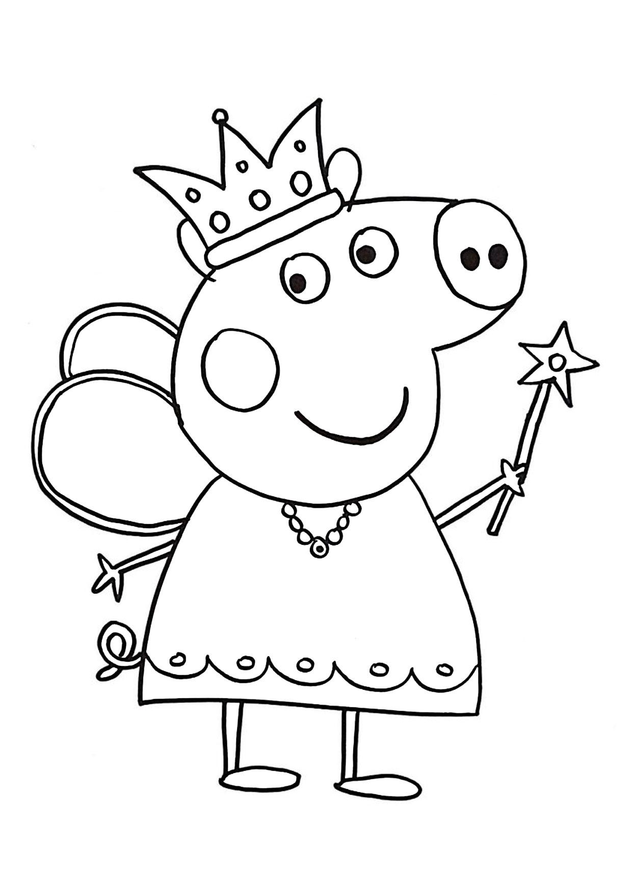 Disegni da colorare peppa pig formato a4 pagina for Maschere di peppa pig da colorare