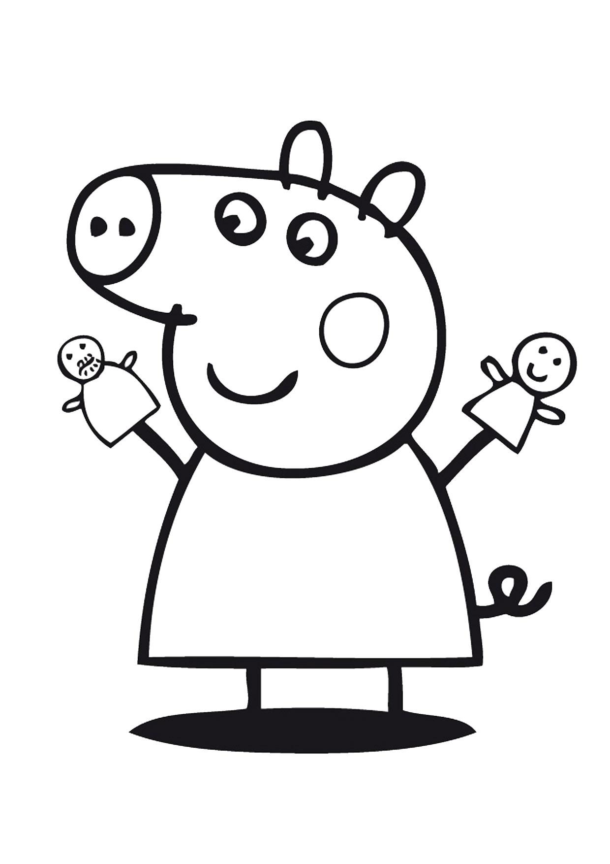 Disegno Peppa Pig da colorare 11