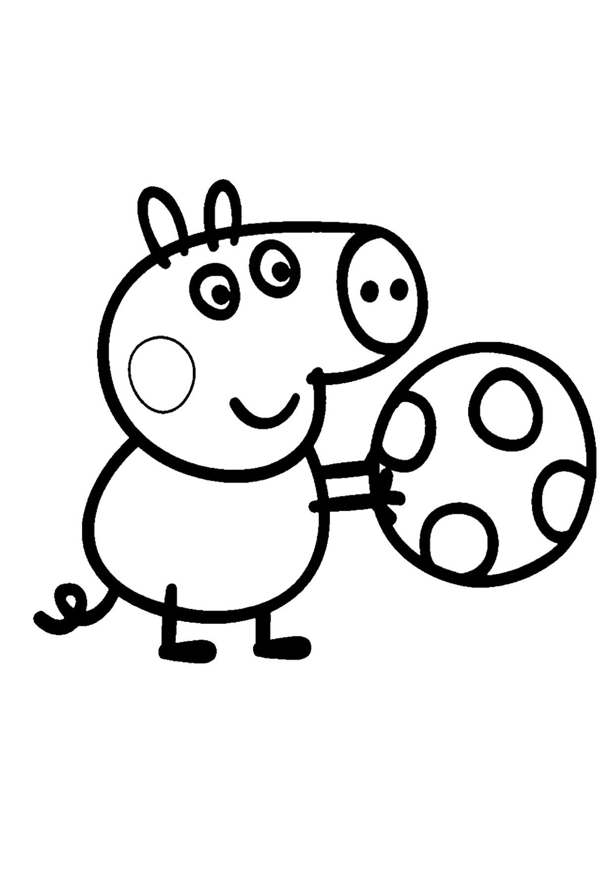 Disegno Peppa Pig da colorare 12