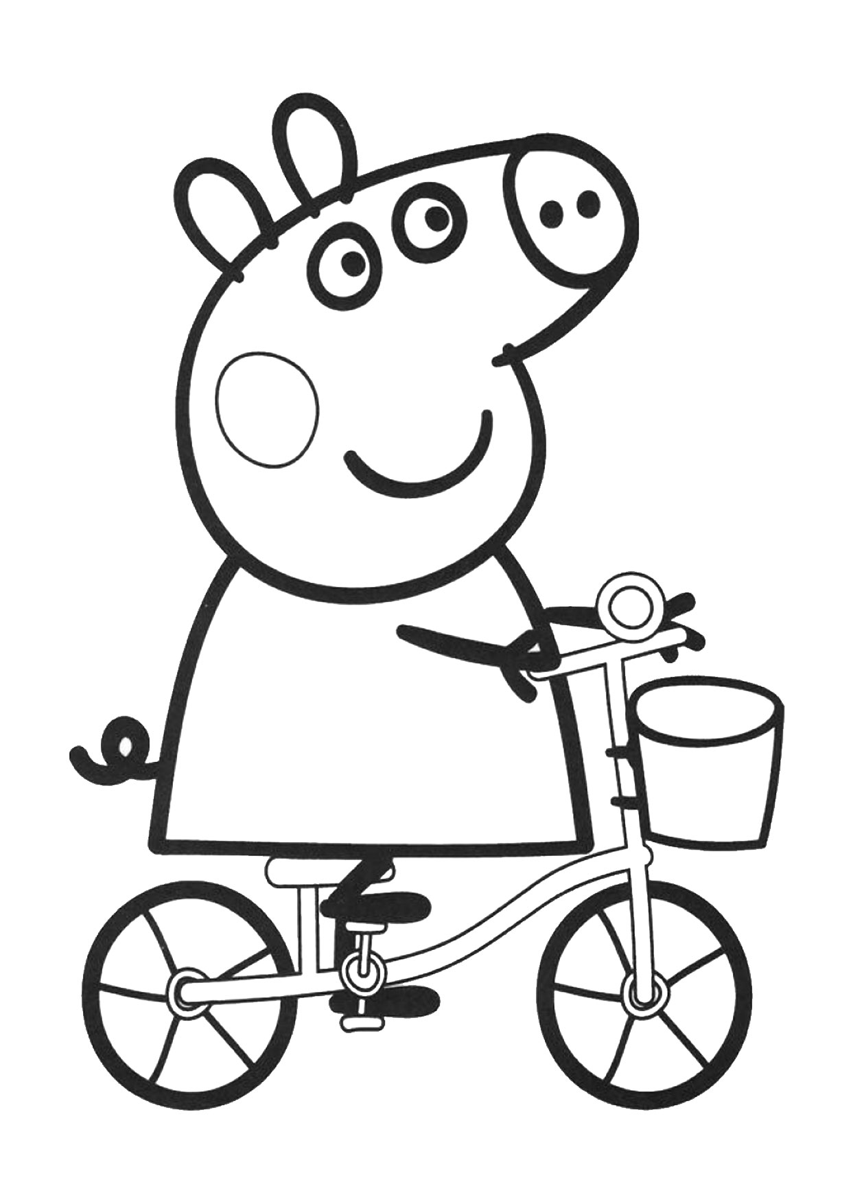 Disegno Peppa Pig da colorare 13
