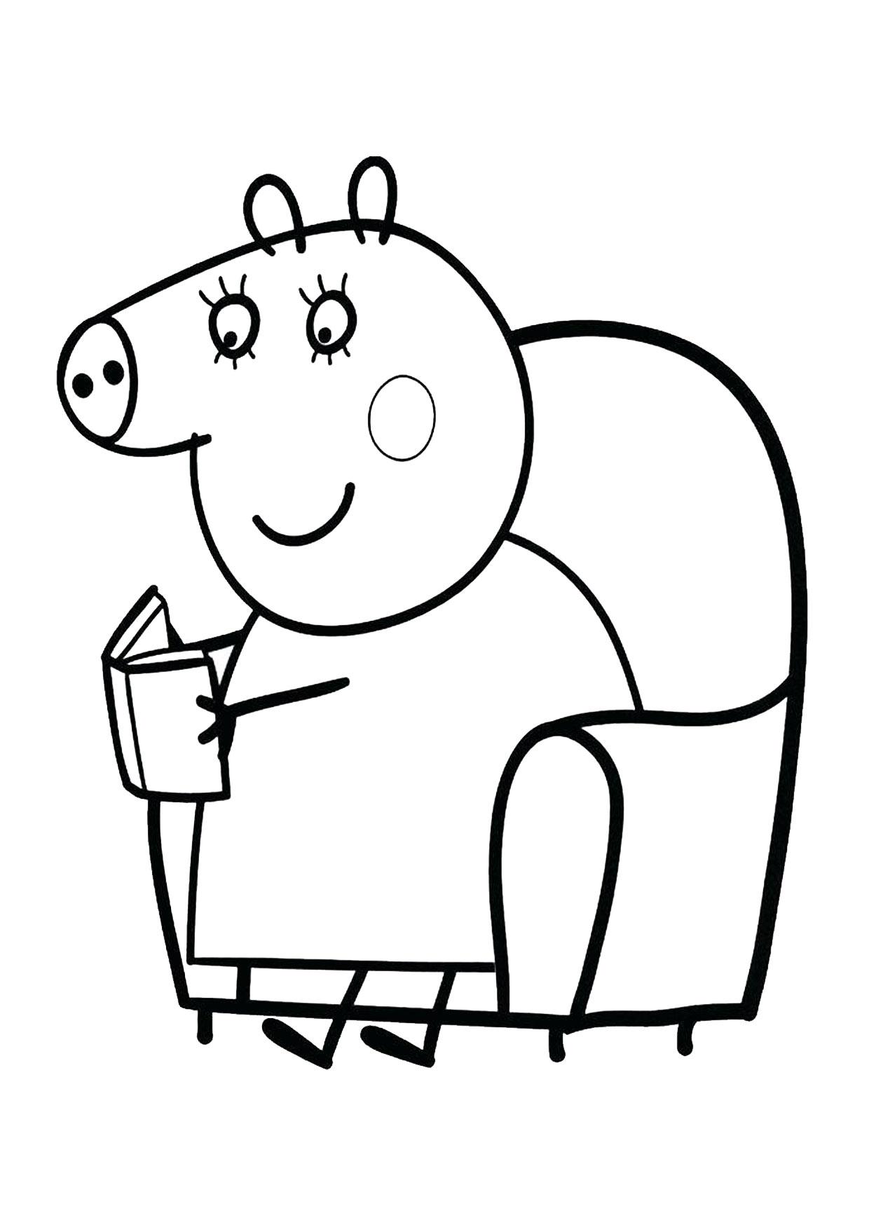 Disegno Peppa Pig da colorare 14