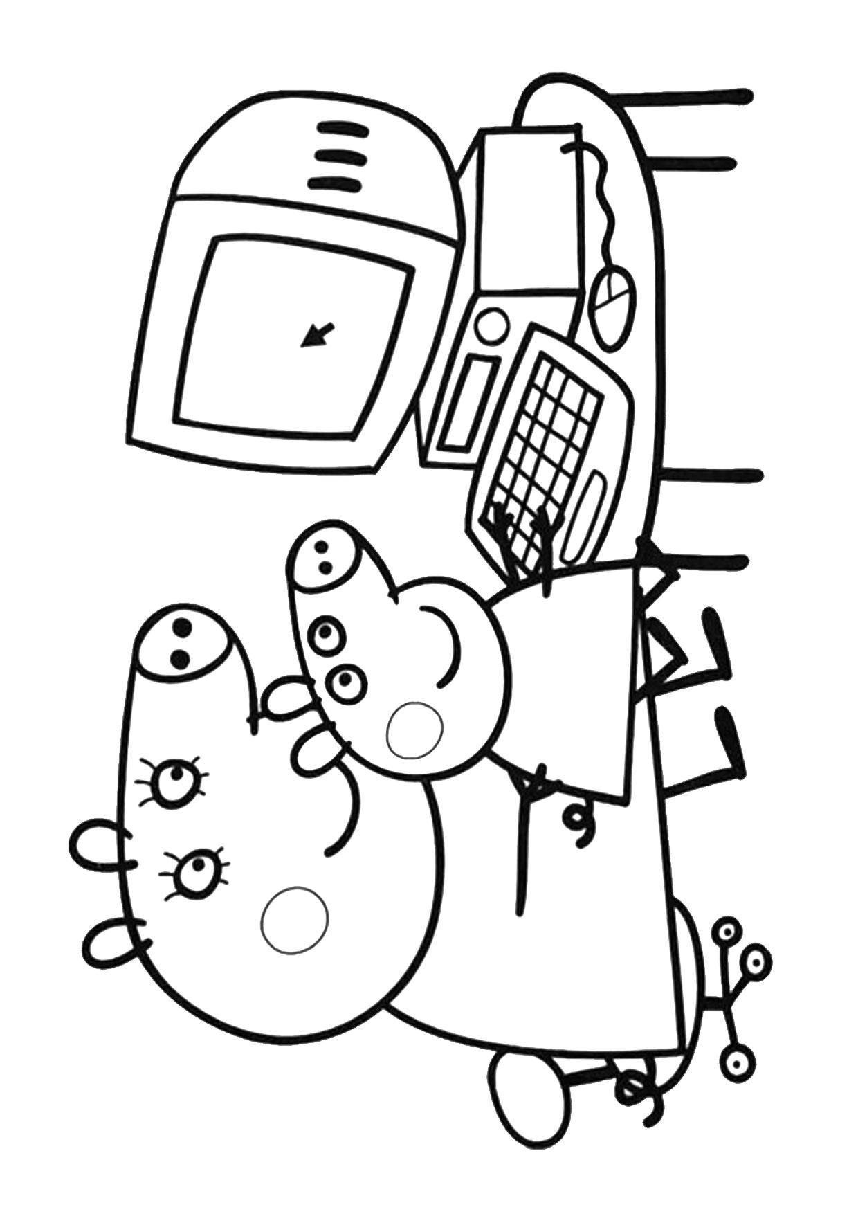 Disegno Peppa Pig da colorare 16