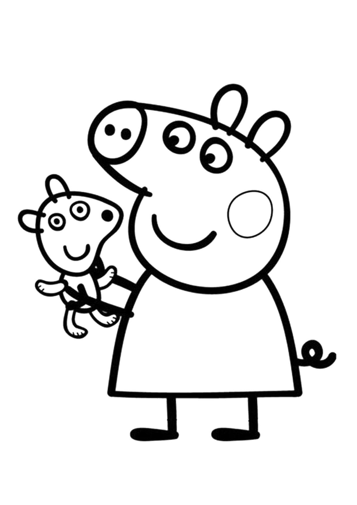 Disegno Peppa Pig da colorare 17