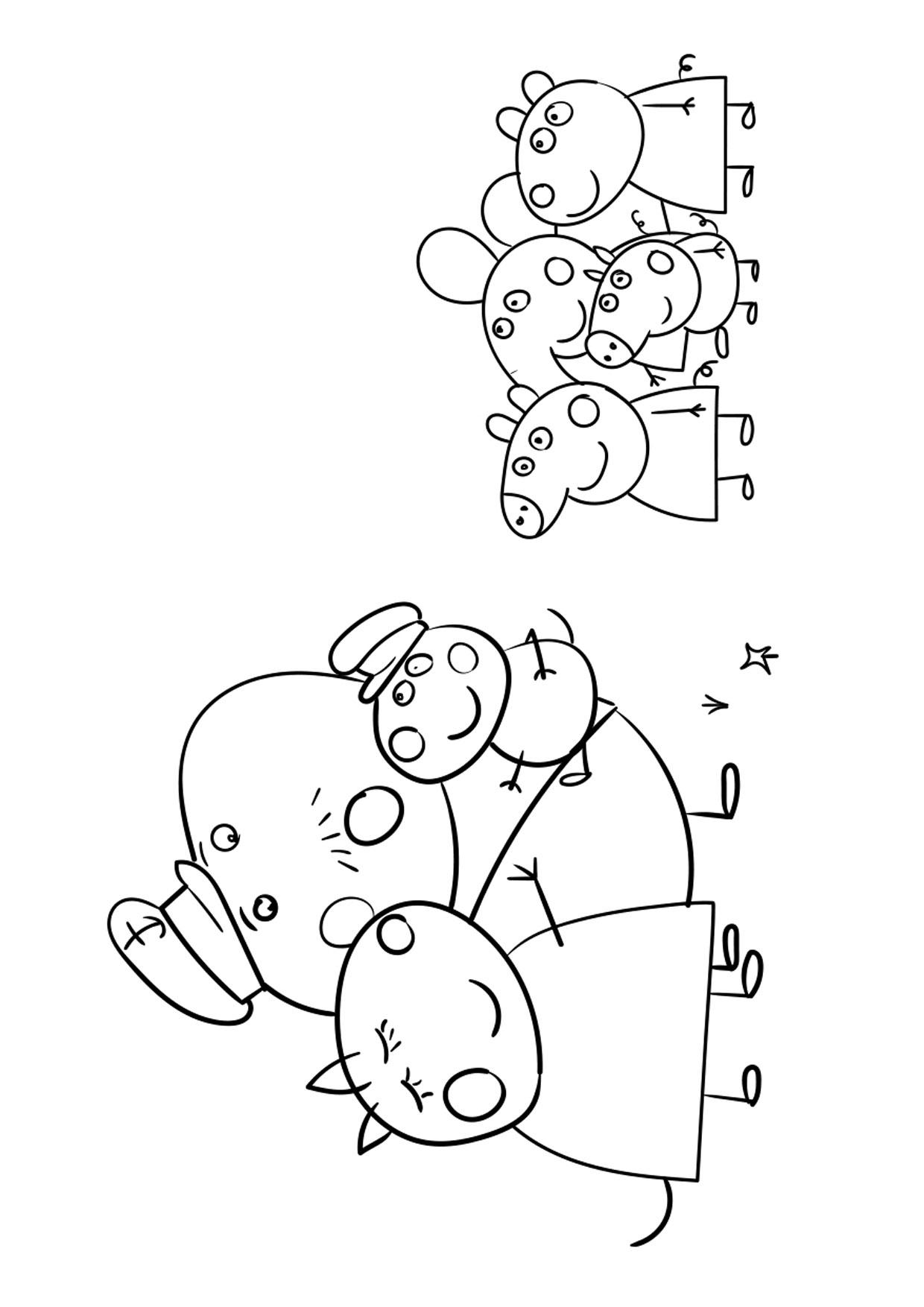 Disegno Peppa Pig da colorare 19