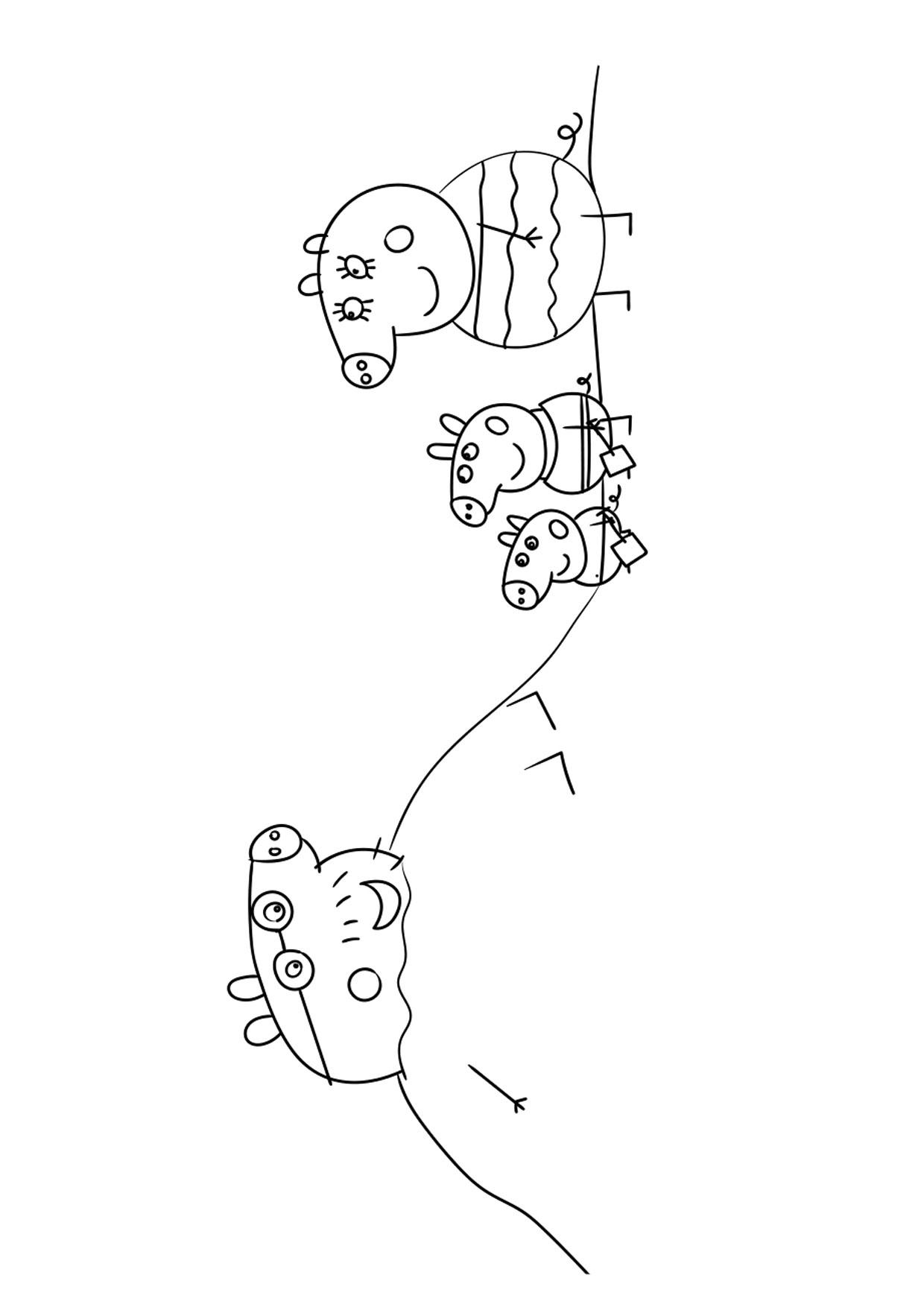 Disegno Peppa Pig da colorare 21