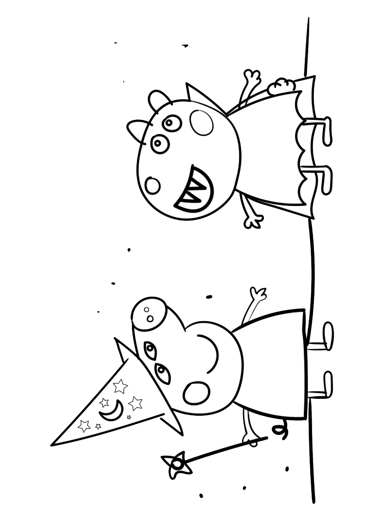 Disegno Peppa Pig da colorare 23