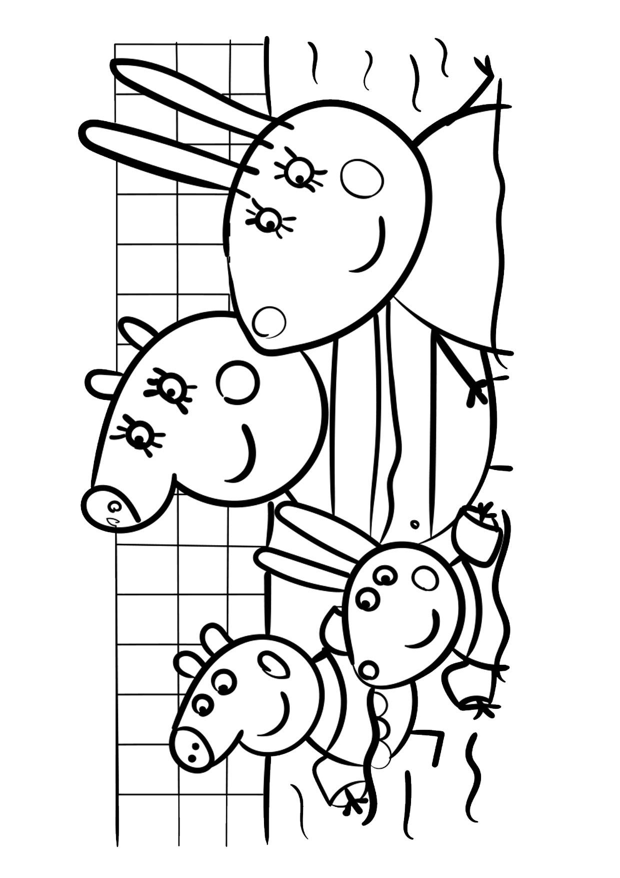 Disegno Peppa Pig da colorare 25