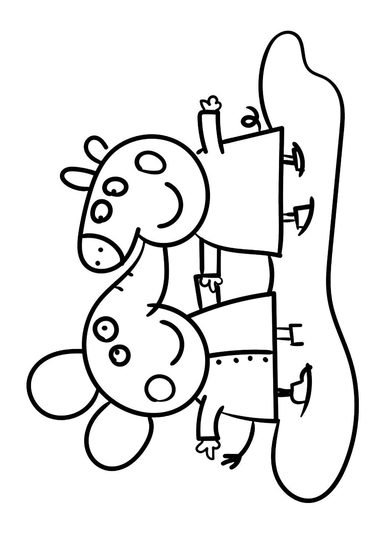 Disegno Peppa Pig da colorare 26