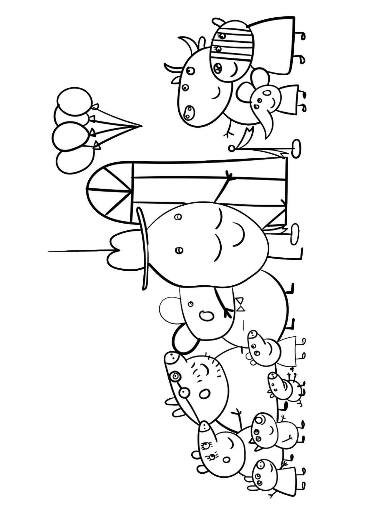 Disegno Peppa Pig da colorare 28