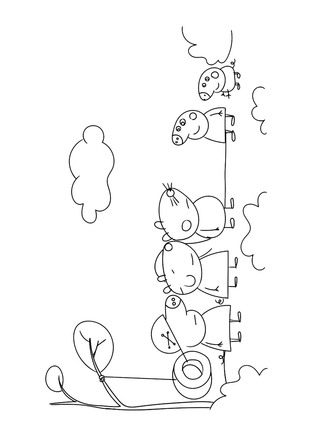 Disegno Peppa Pig da colorare 31