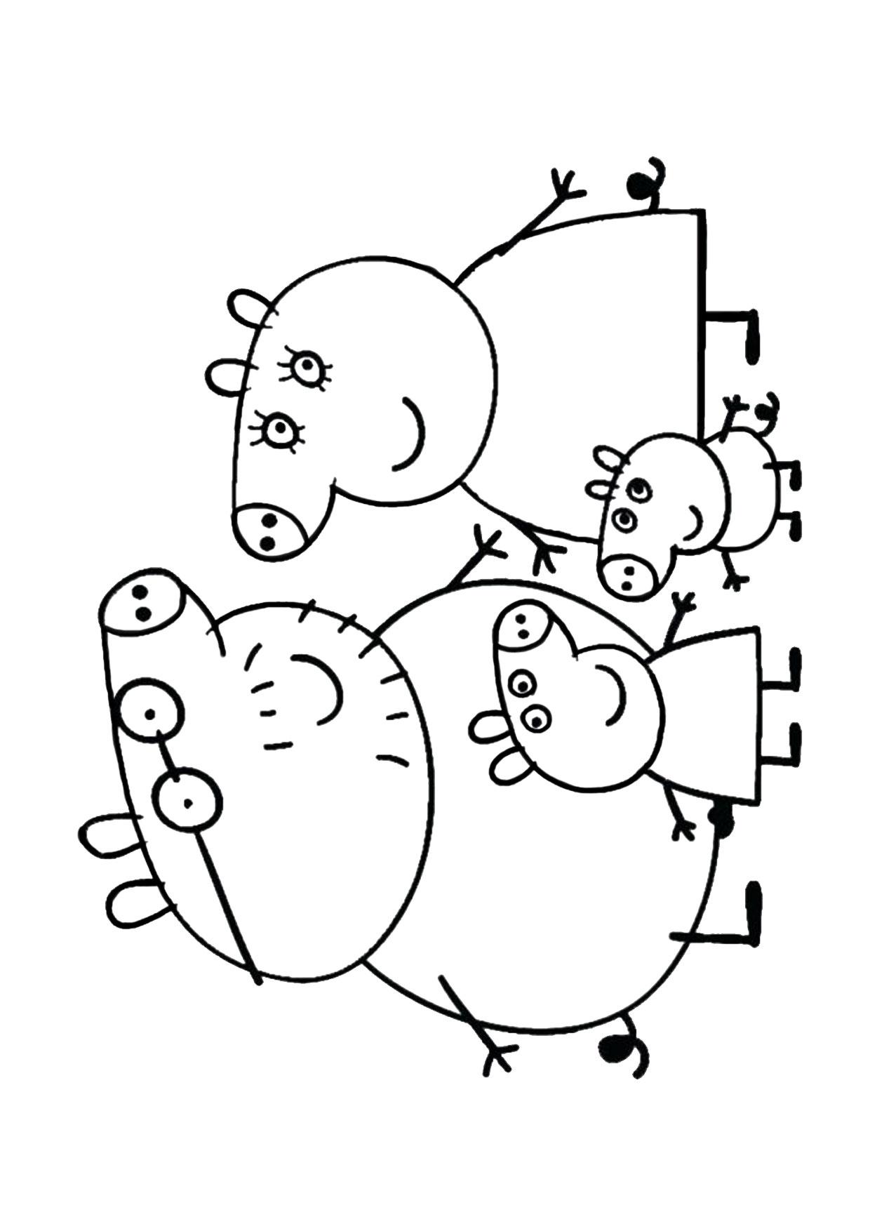 Disegno Peppa Pig da colorare 38