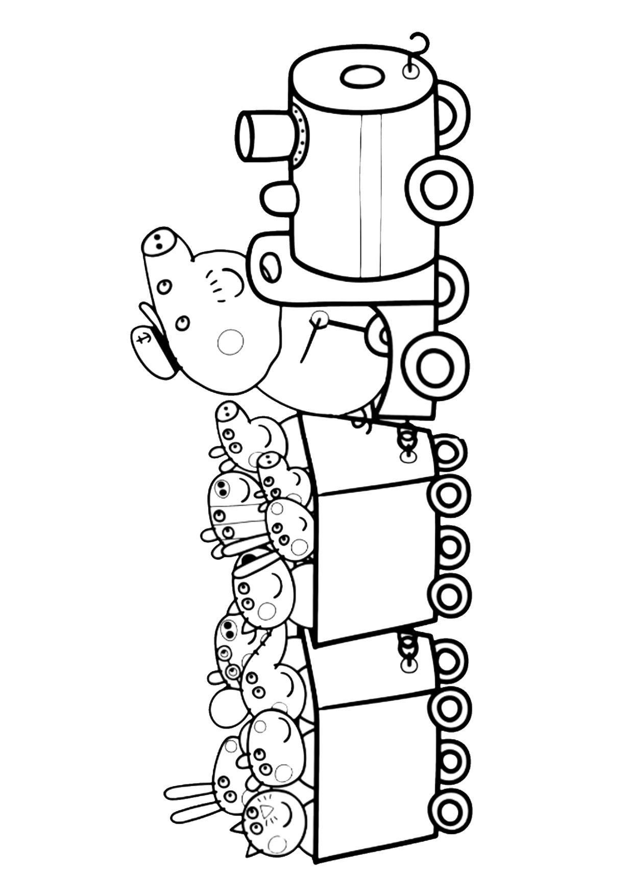 Disegno Peppa Pig da colorare 39