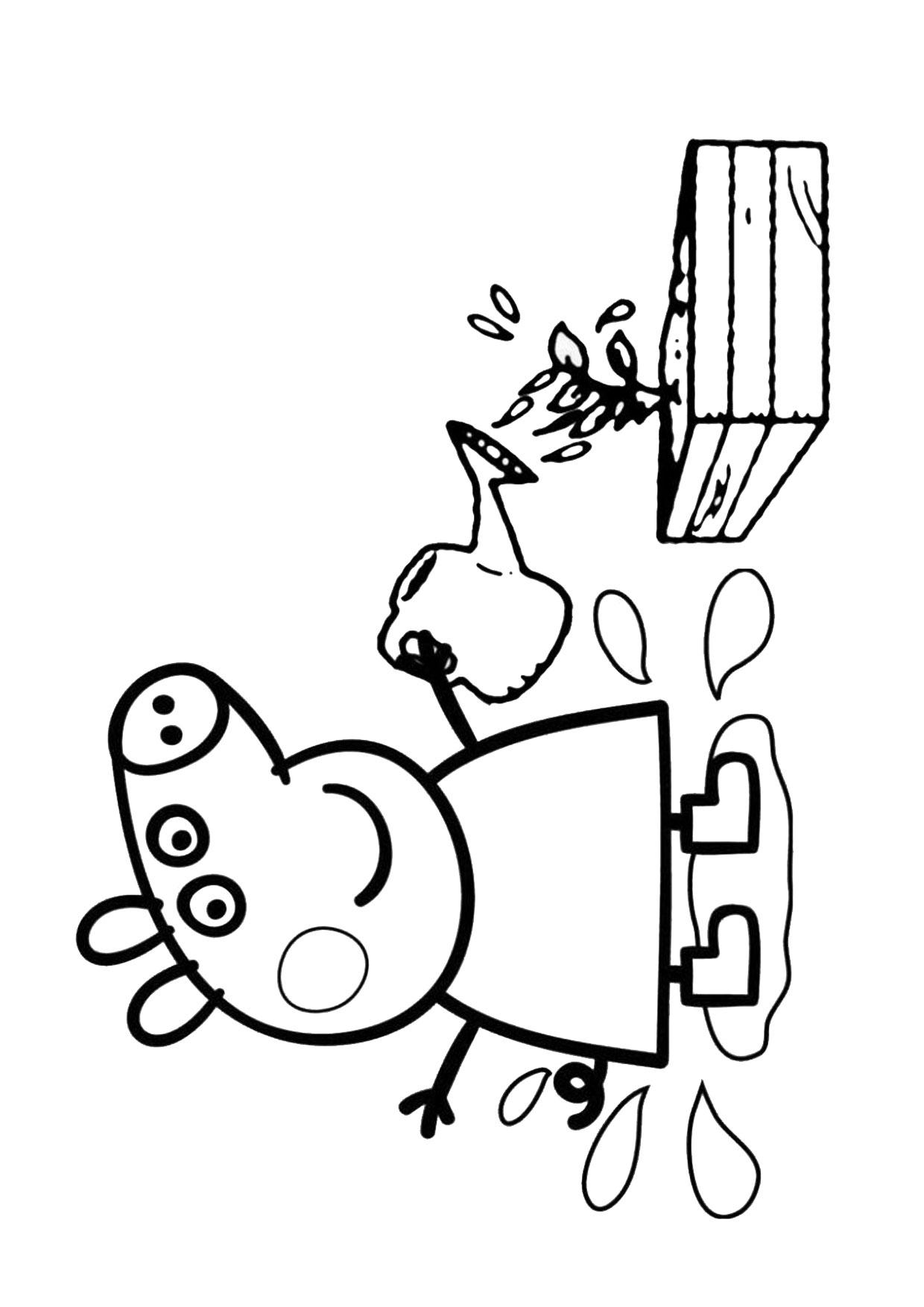 Disegno Peppa Pig da colorare 42
