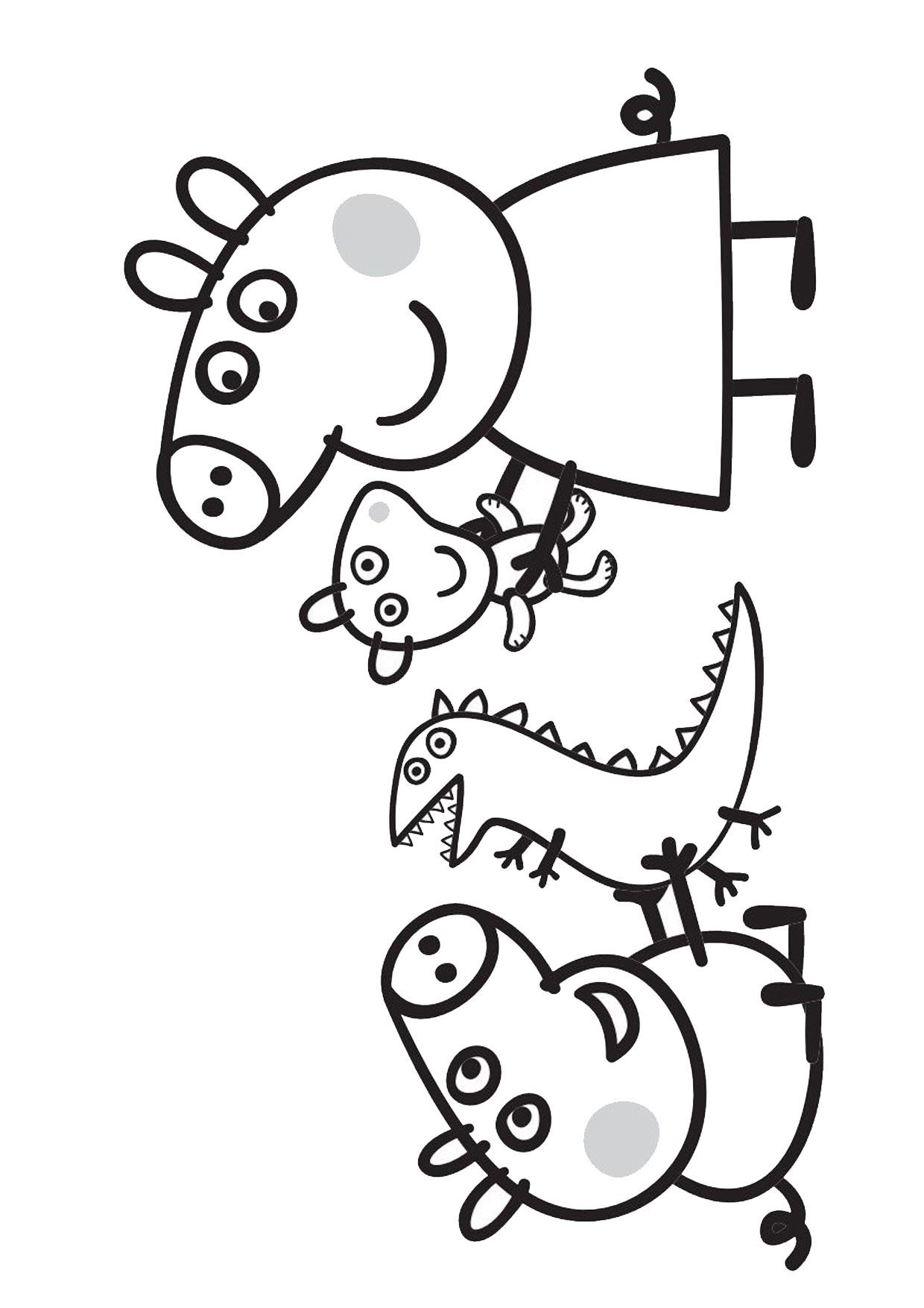 Disegno Peppa Pig da colorare 43