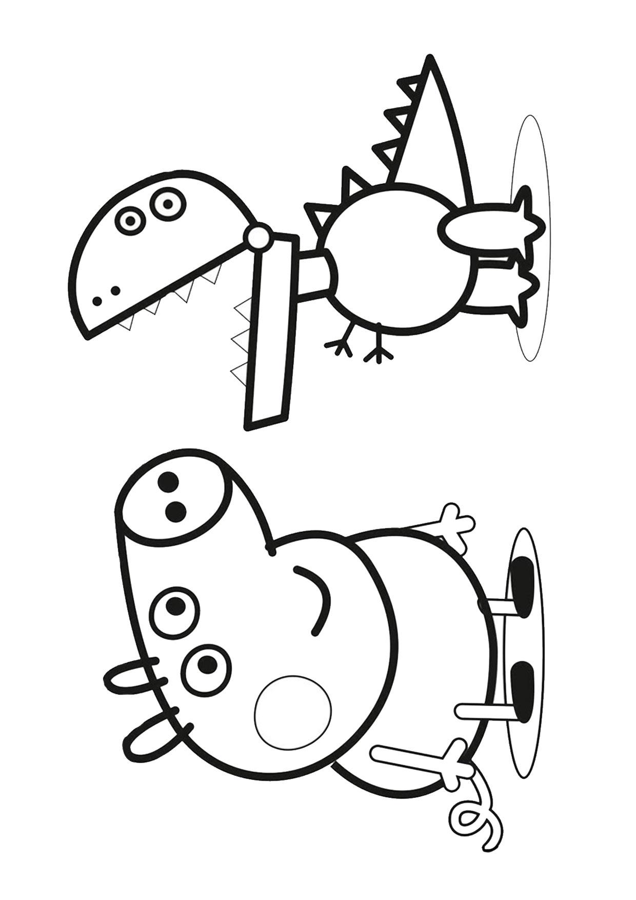 Disegno Peppa Pig da colorare 44