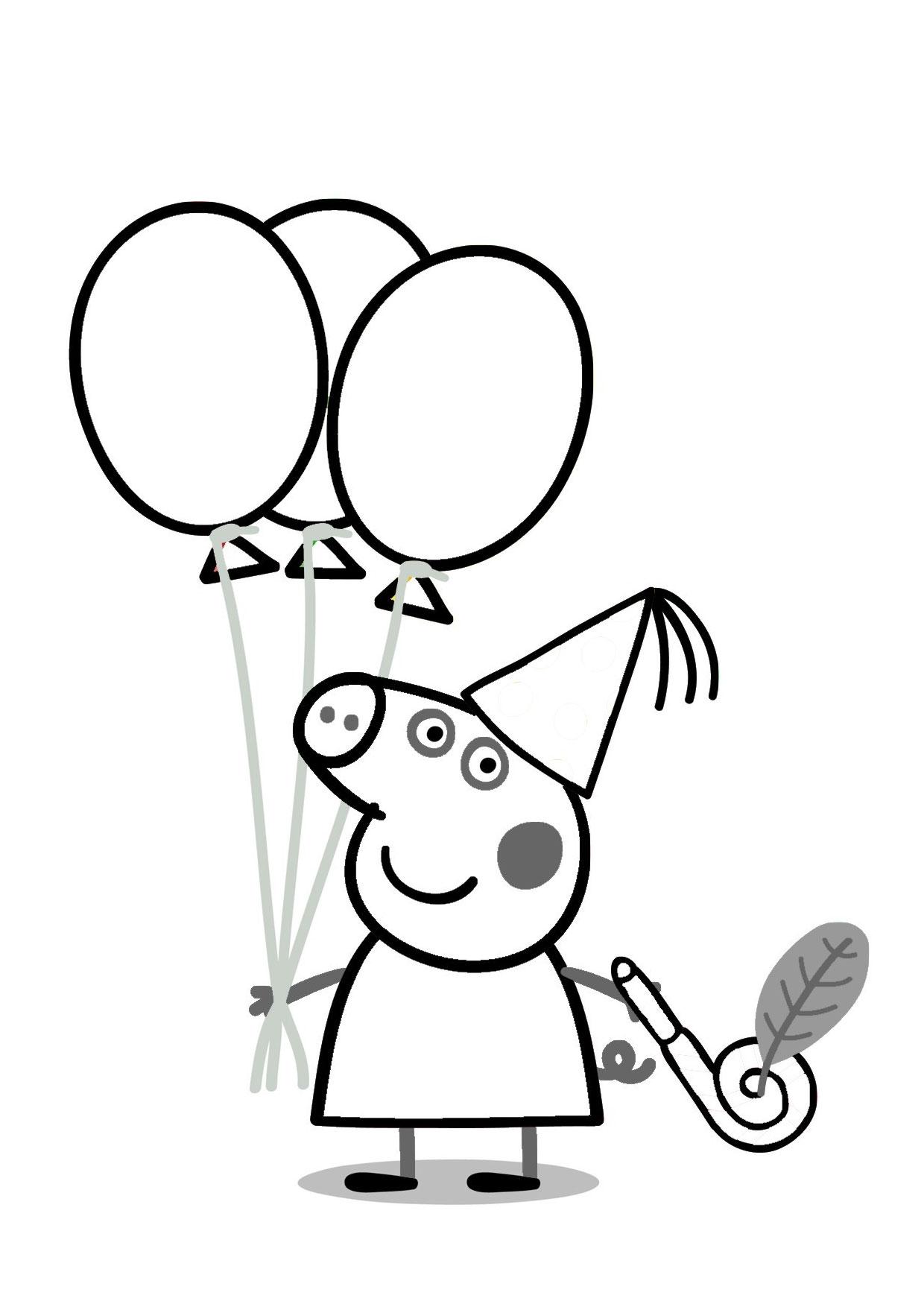 Disegno Peppa Pig da colorare 46