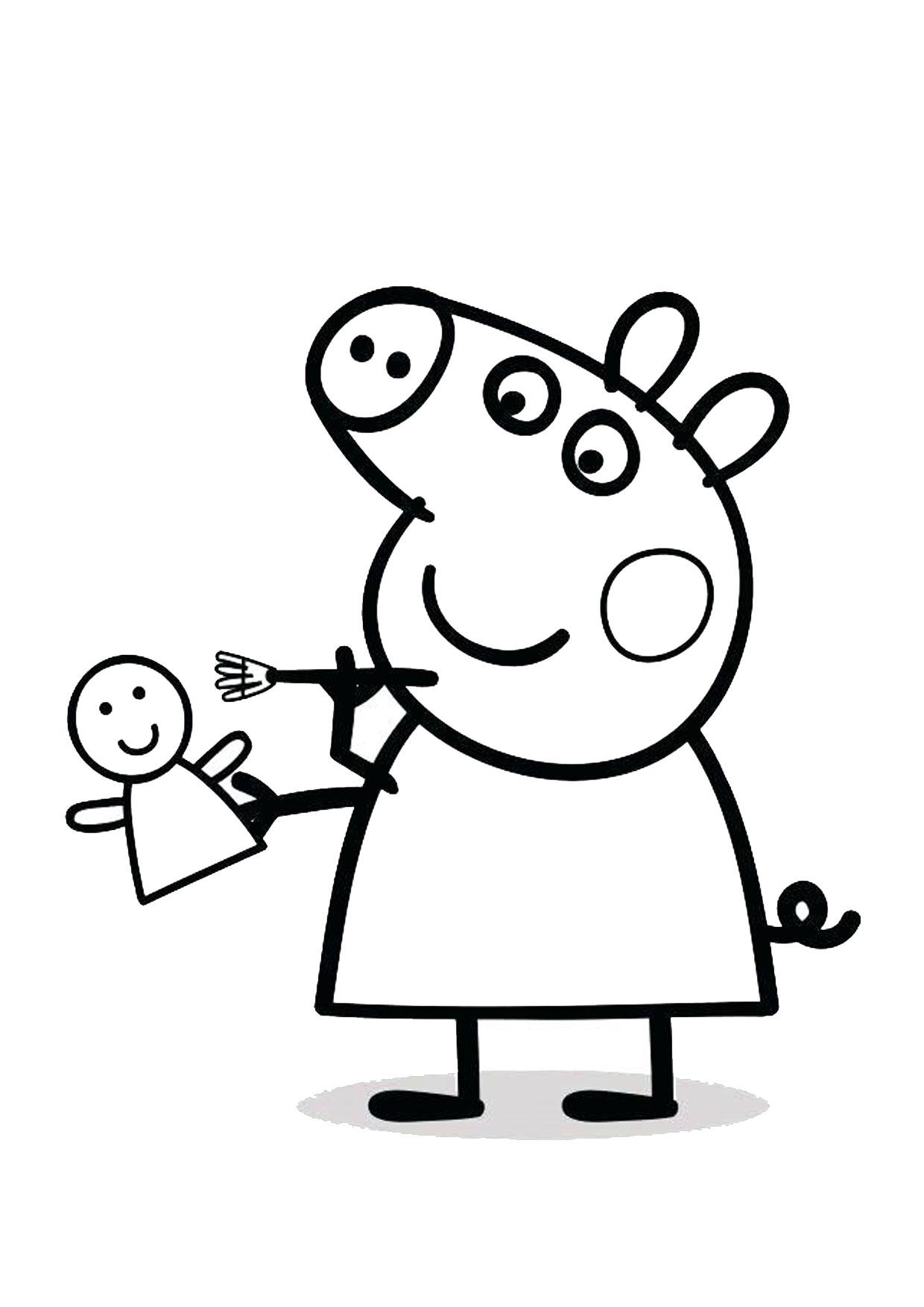 Disegno Peppa Pig da colorare 47