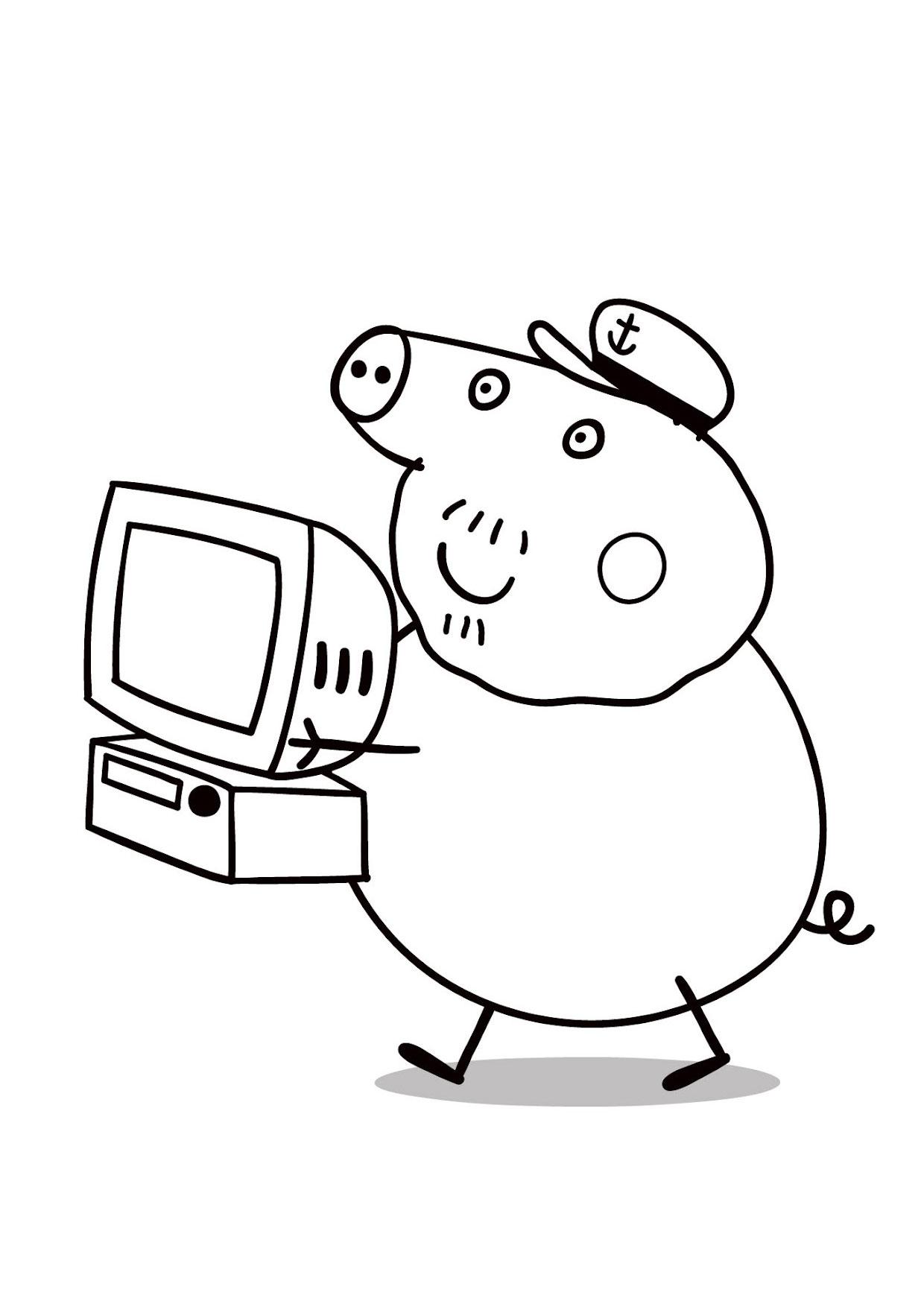 Disegno Peppa Pig da colorare 48