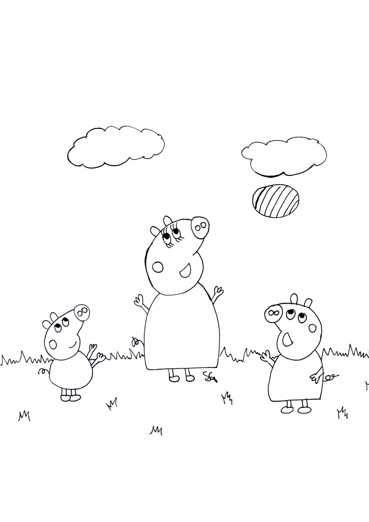 Disegno Peppa Pig da colorare 54