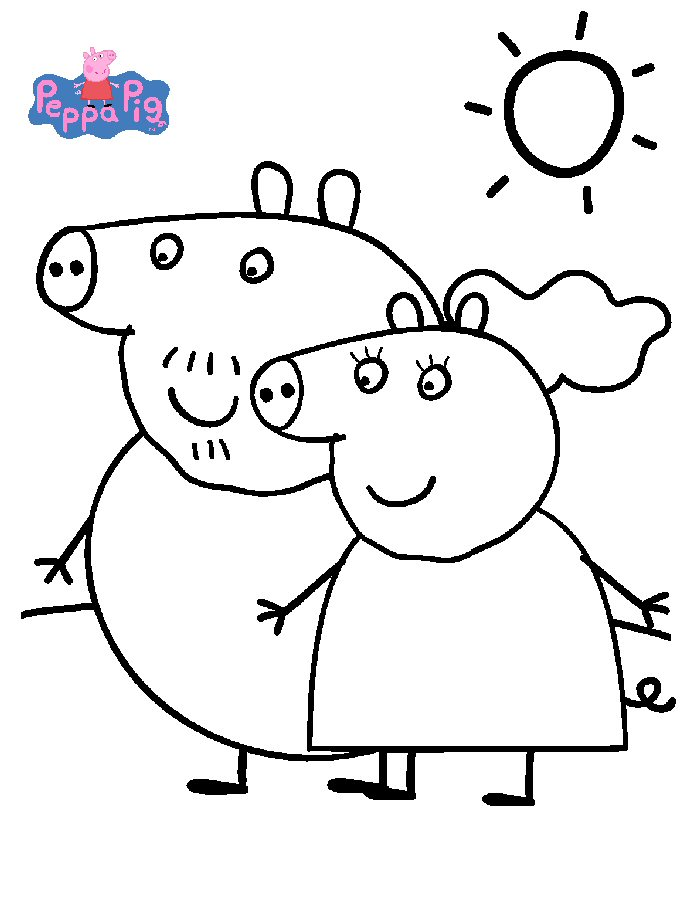 daddy pig images coloring pages - photo#35