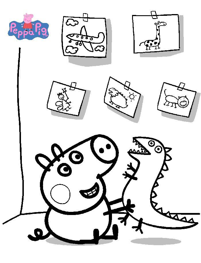 Disegni Di Peppa Pig Da Stampare E Colorare Pianetabambini It