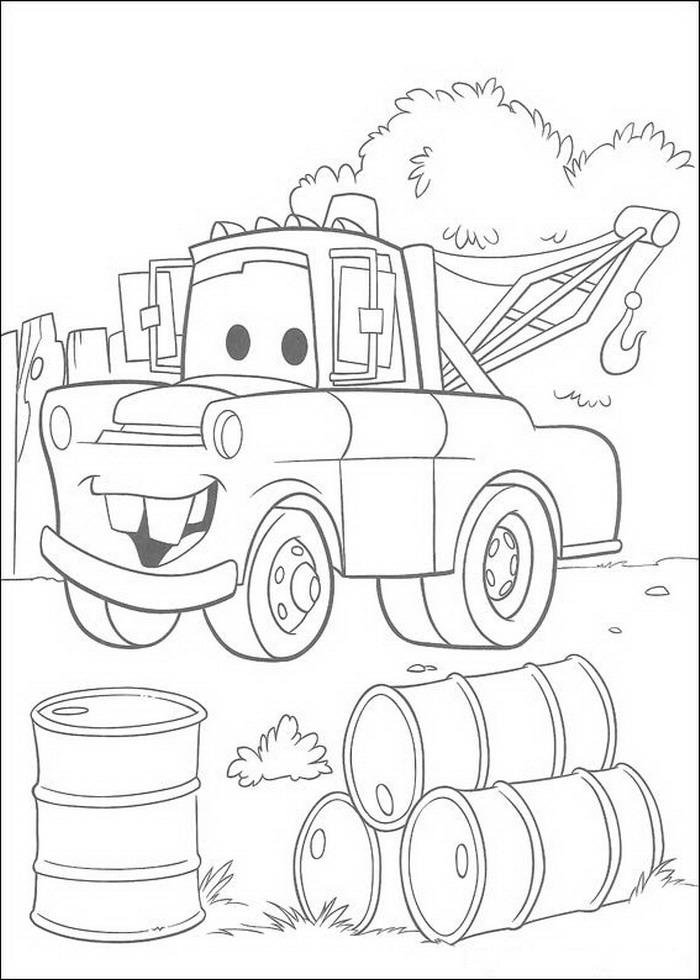 disegni da colorare di cars toon