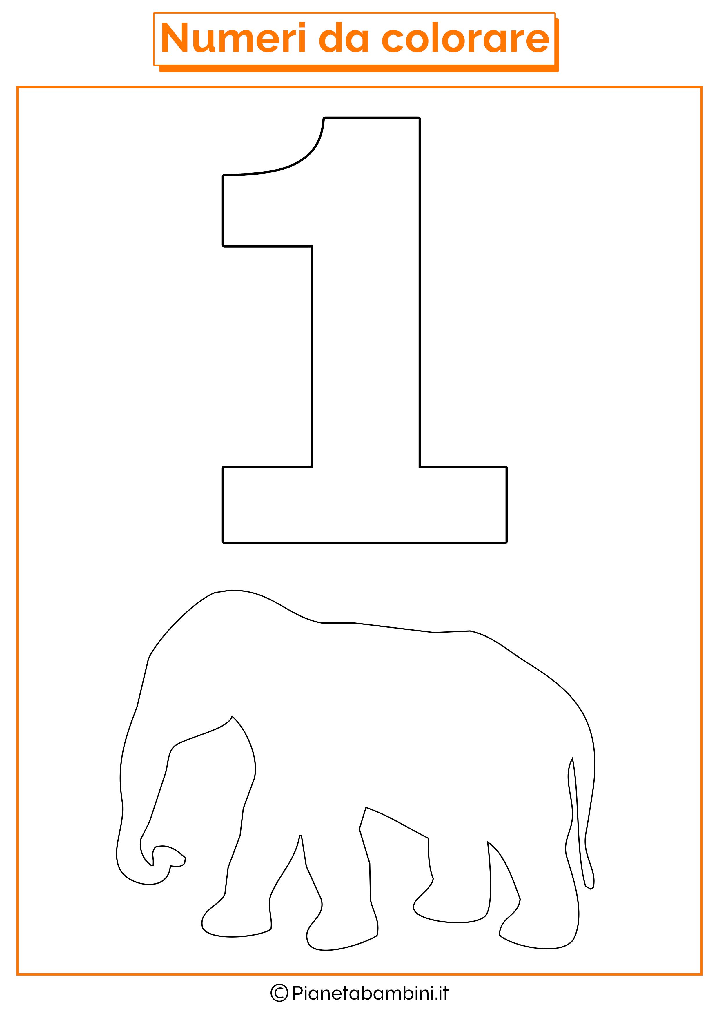 Bellissimo disegni da colorare numeri bambini for Disegni da stampare colorare e ritagliare