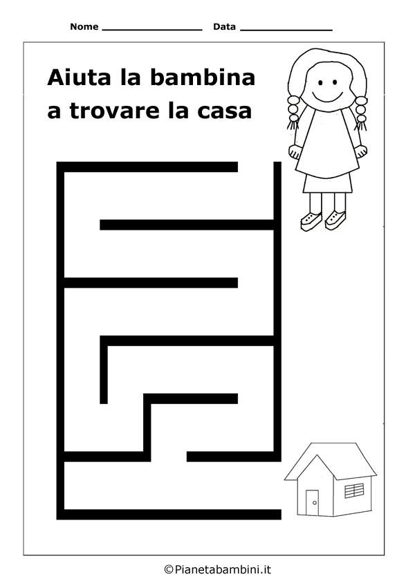 Labirinto-Bambina-Casa