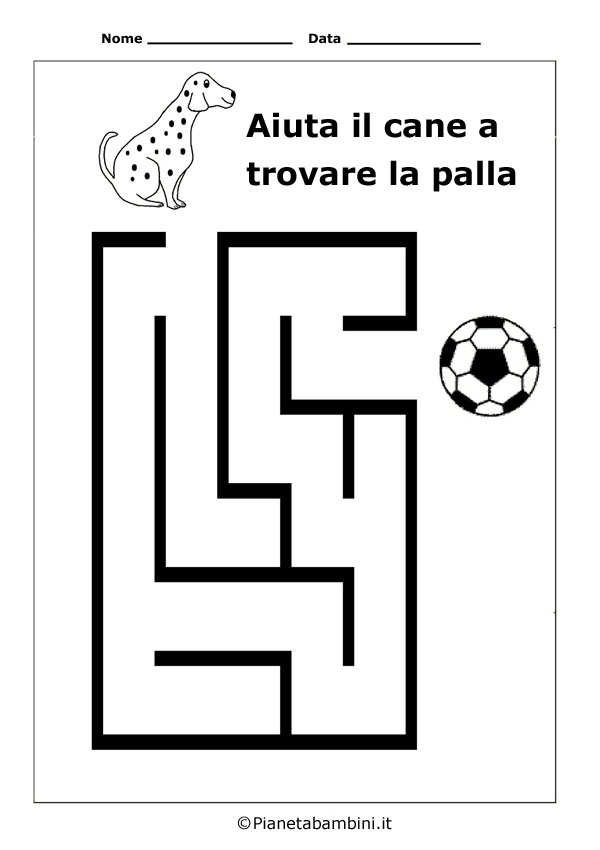 Labirinto-Cane-Palla