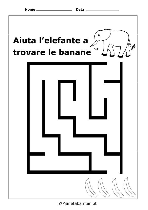 Labirinti facili per bambini da stampare anche in pdf