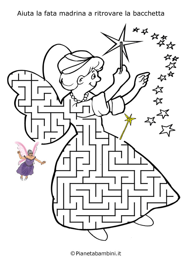Favoloso Labirinti per Bambini dedicati ai Personaggi delle Fiabe  HV36