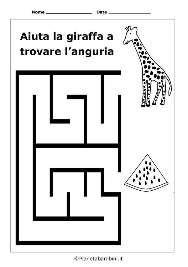 Labirinti facili per bambini da stampare anche in pdf for Sole disegno da colorare
