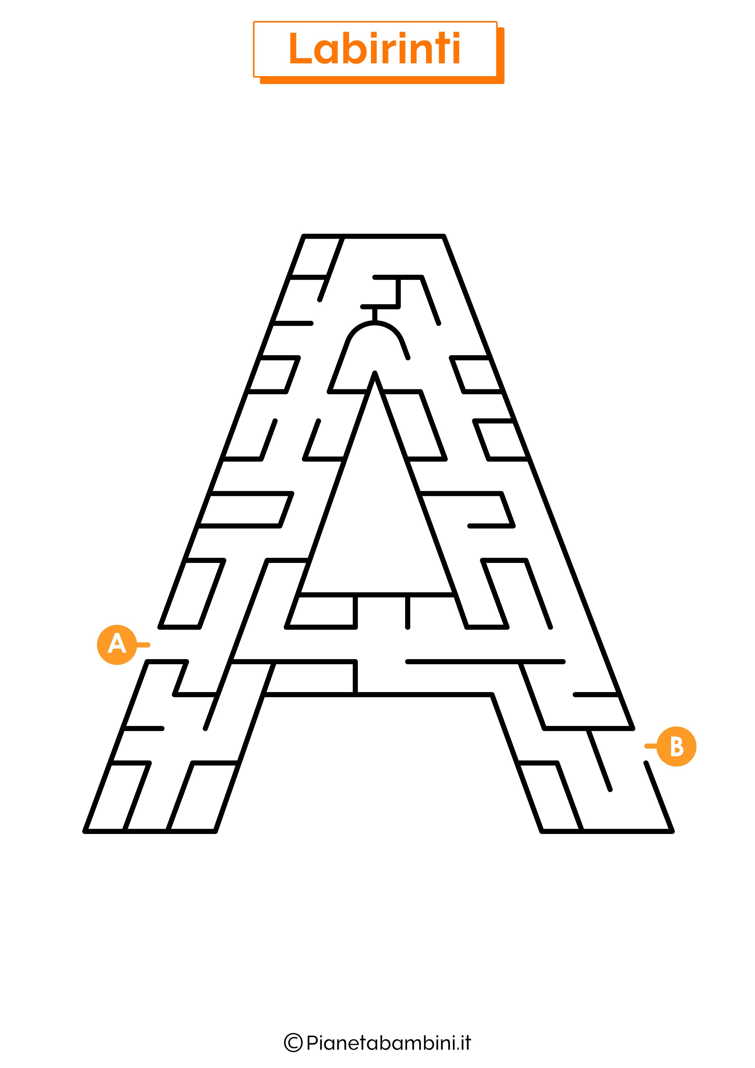 Labirinto sulla lettera A