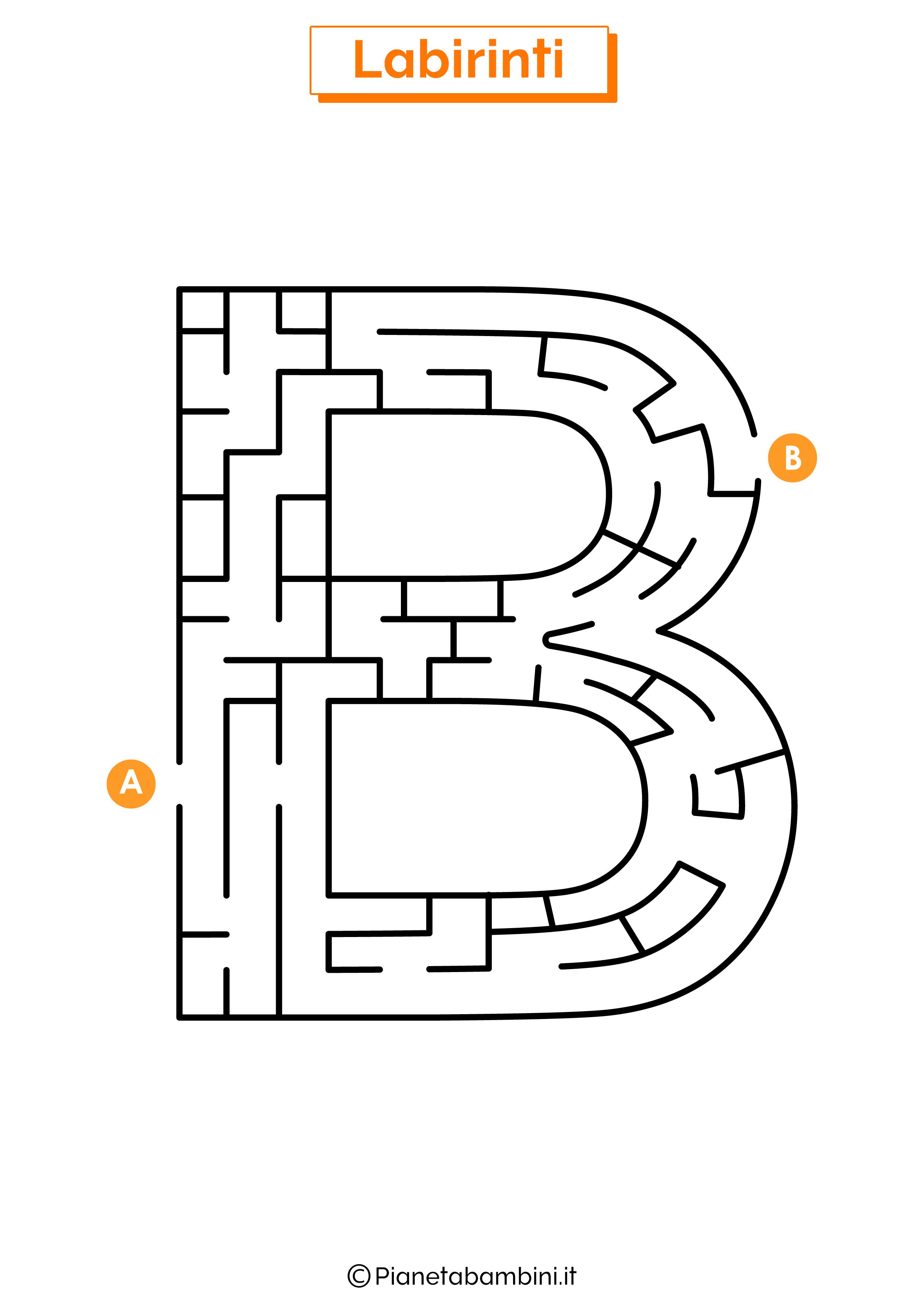 Labirinto sulla lettera B