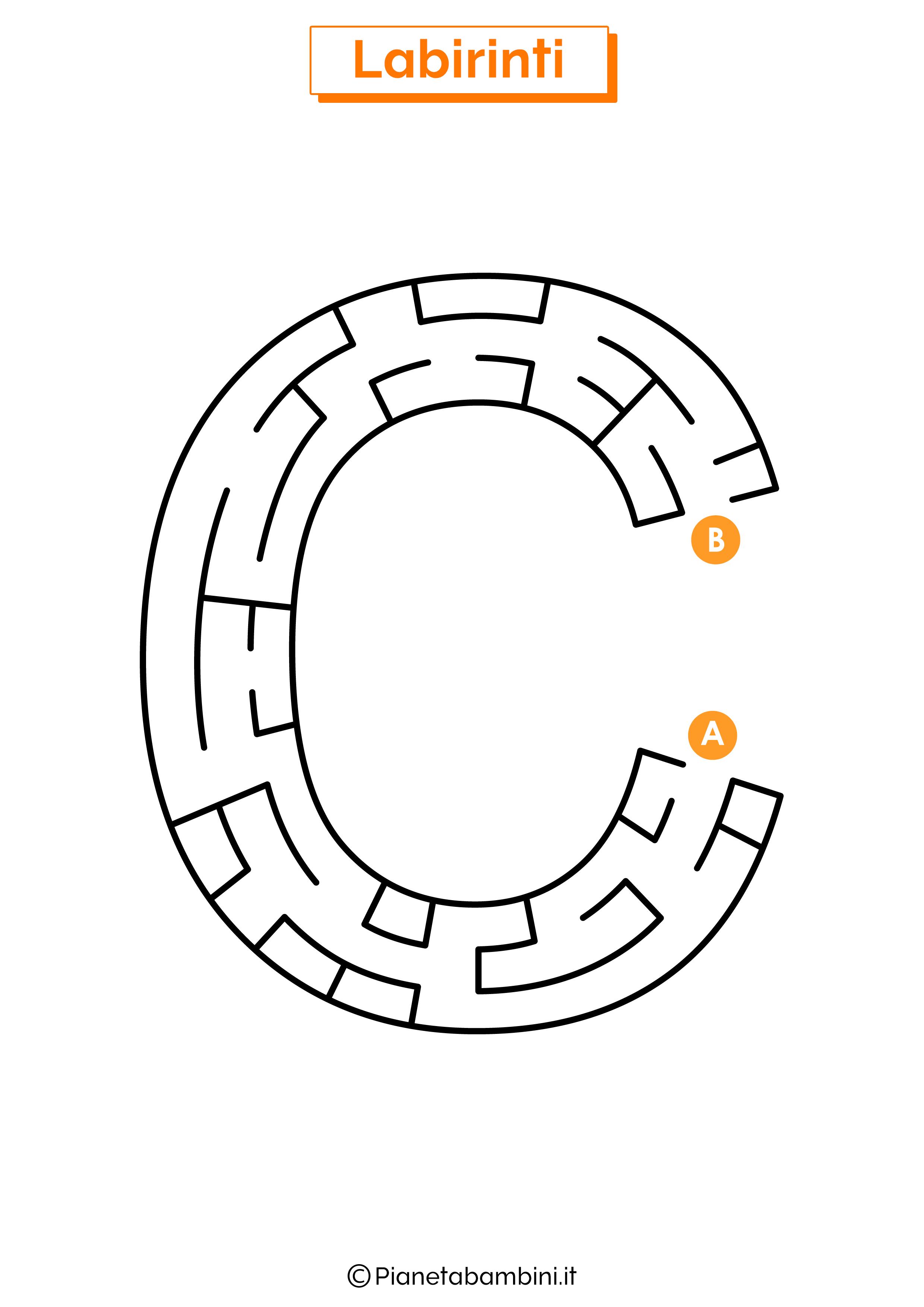 Labirinto sulla lettera C