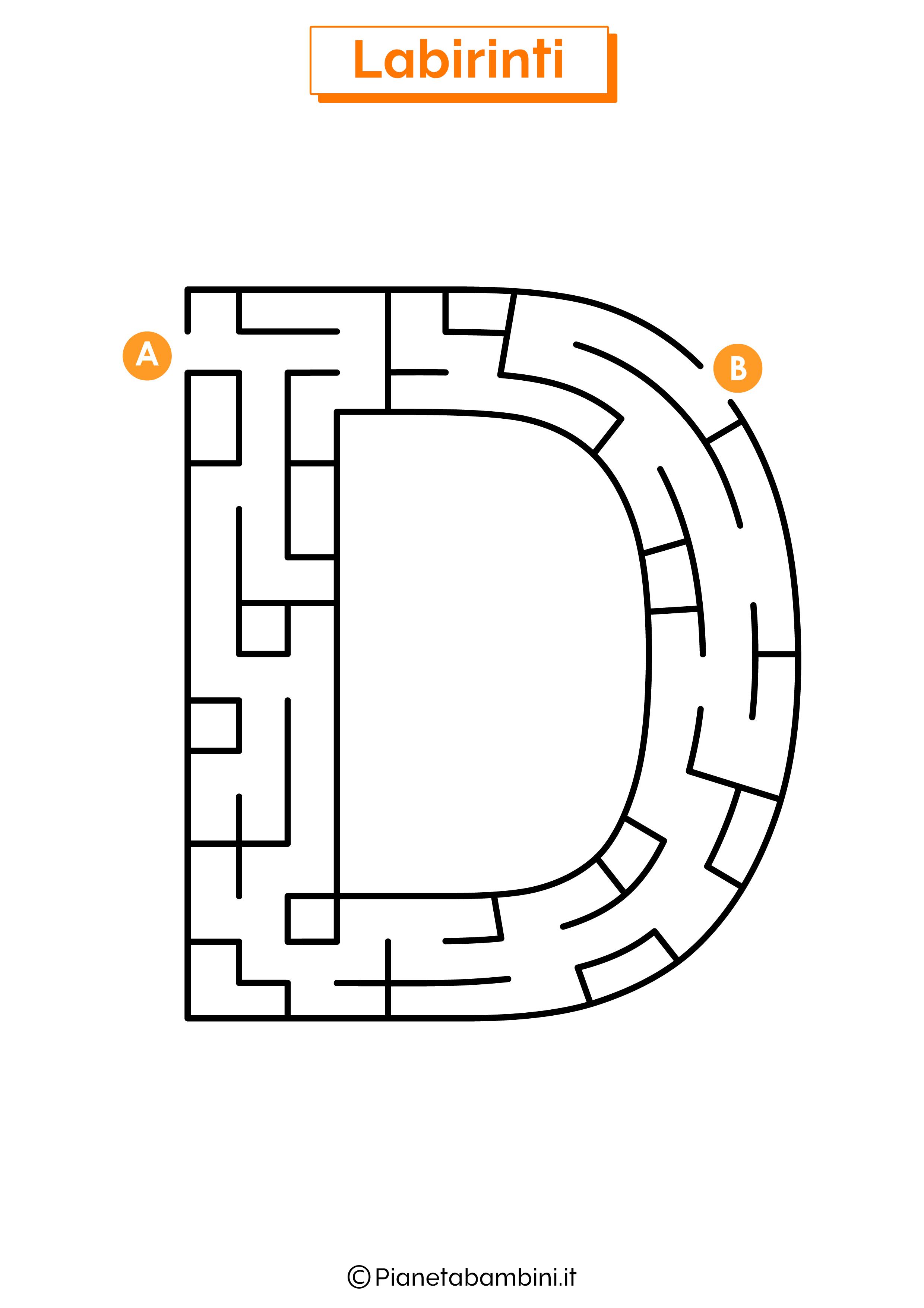 Labirinto sulla lettera D