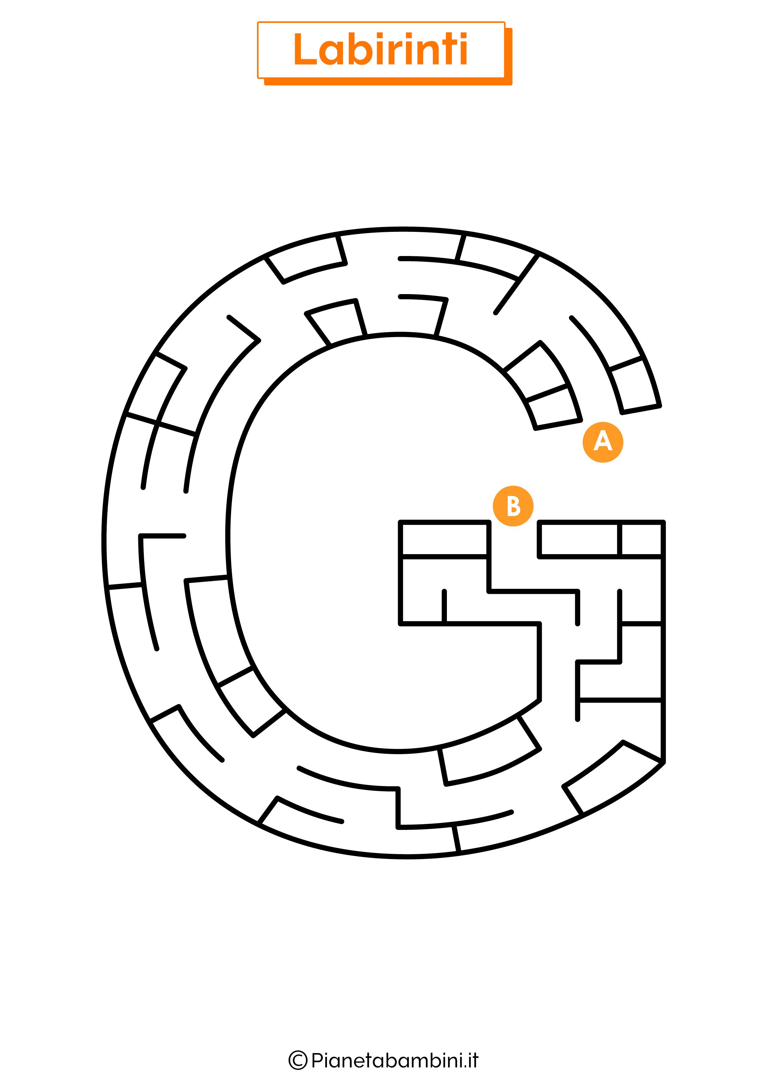 Labirinto sulla lettera G