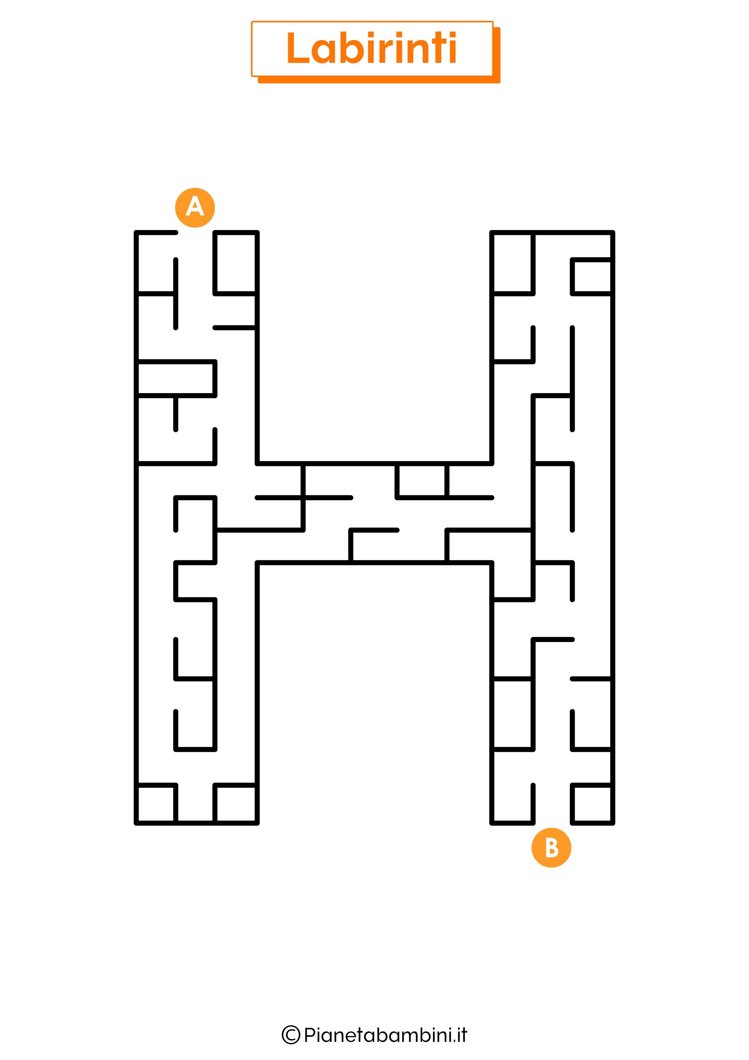Labirinto sulla lettera H