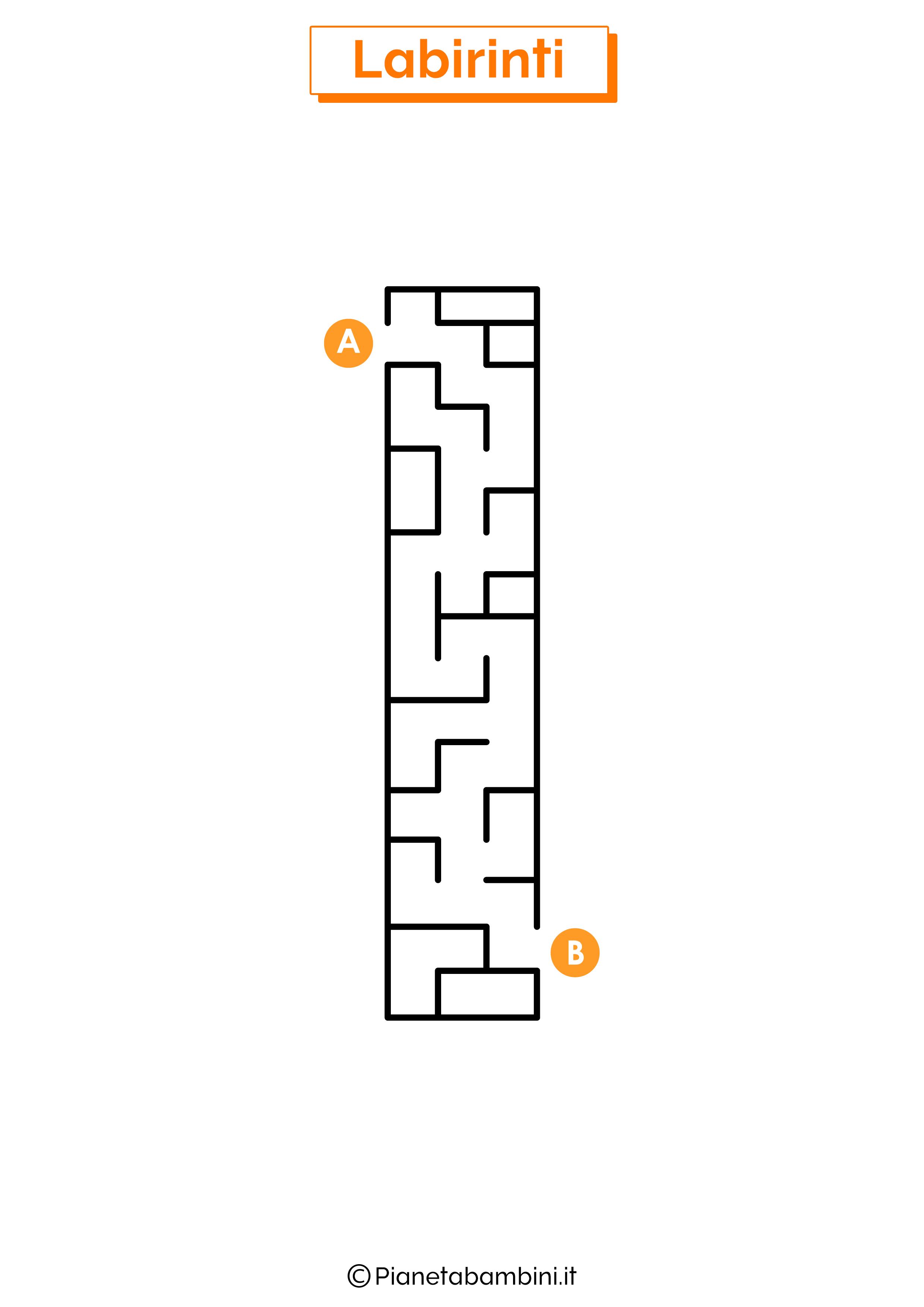 Labirinto sulla lettera I