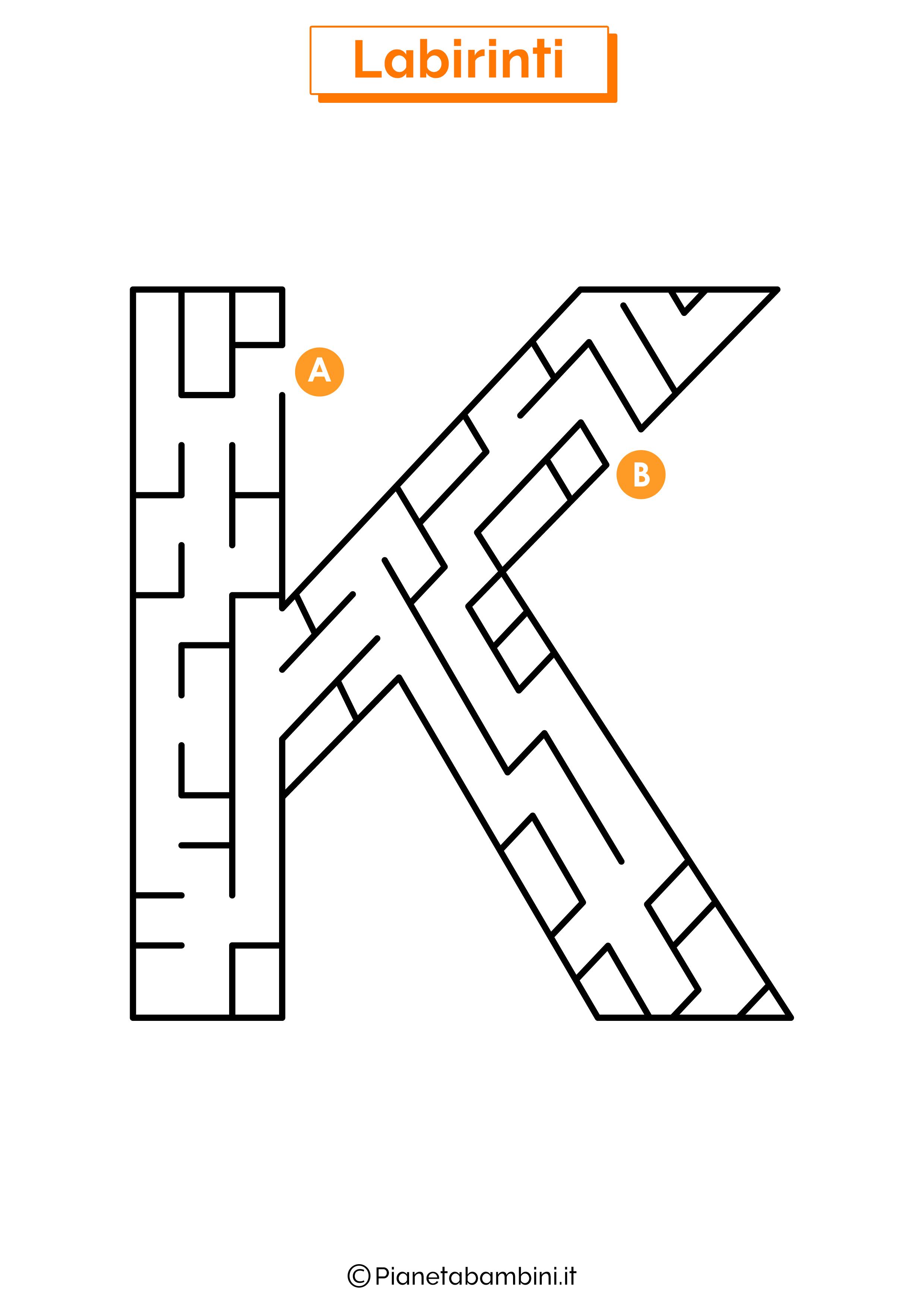 Labirinto sulla lettera K
